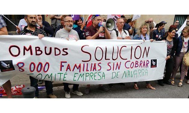 Los trabajadores de la empresa de seguridad privada OMBUDS se movilizan en defensa de sus puestos de trabajo