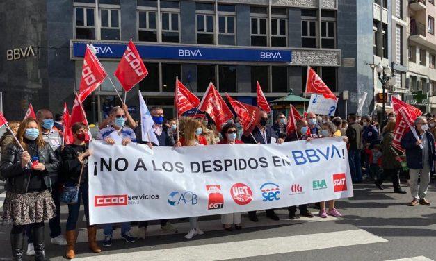 Los trabajadores de BBVA vuelven a movilizarse este lunes contra el ERE